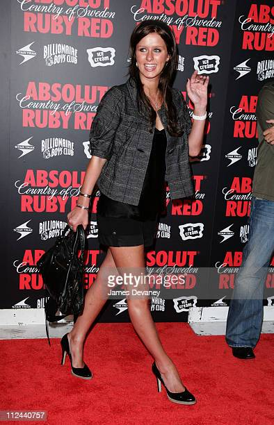 Nicky Hilton during Pharrell Williams and Absolut Ruby Red Host Pre VMA Party Outside Arrivals at Chinatown Brasserie in New York City New York...