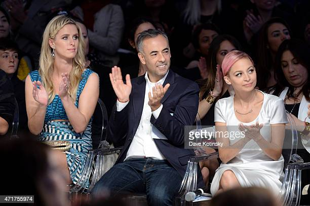 Nicky Hilton Francisco Costa and Nicole Richie attend The Fashion Institute Of Technology's Future Of Fashion Runway Show hosted by Nicole Richie at...