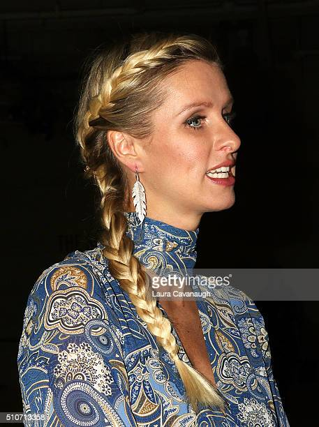 Nicky Hilton hair detail attends Alice Olivia By Stacey Bendet Fall 2016 New York Fashion Week The Shows at The Gallery Skylight at Clarkson Sq on...