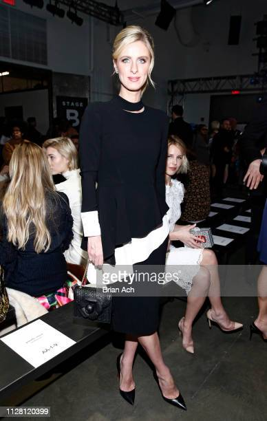 Nicky Hilton is seen during the Pamella Roland fashion show at Pier 59 on February 07 2019 in New York City