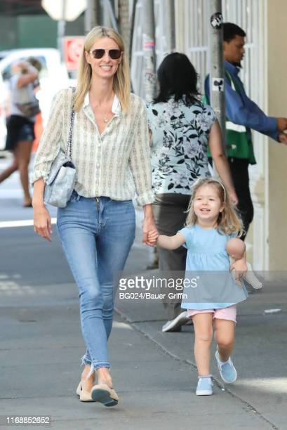 Nicky Hilton is seen with daughter Lily Grace Victoria Rothschild on September 17, 2019 in New York City.