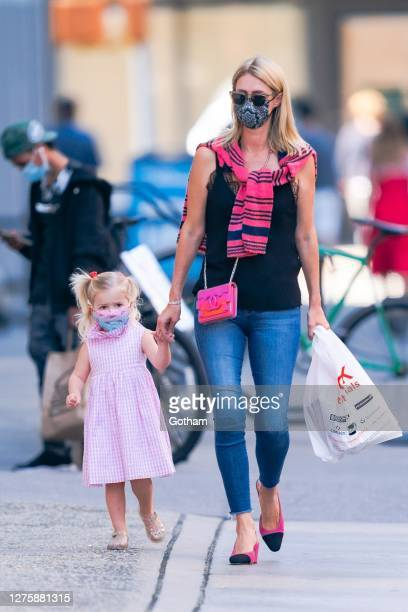 Nicky Hilton is seen with her daughter in NoHo on September 23, 2020 in New York City.