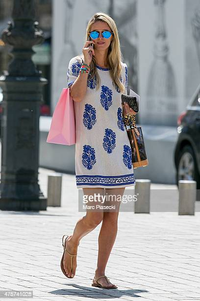 Nicky Hilton is spotted on the 'Place Vendome' on June 3 2015 in Paris France