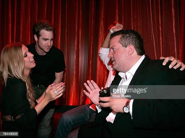 LAS VEGAS NEVADA AUGUST 31 Nicky Hilton Jon Alagem David Katzenberg and Jeff Beacher attend the grand opening of LAX Nightclub Las Vegas on August 31...