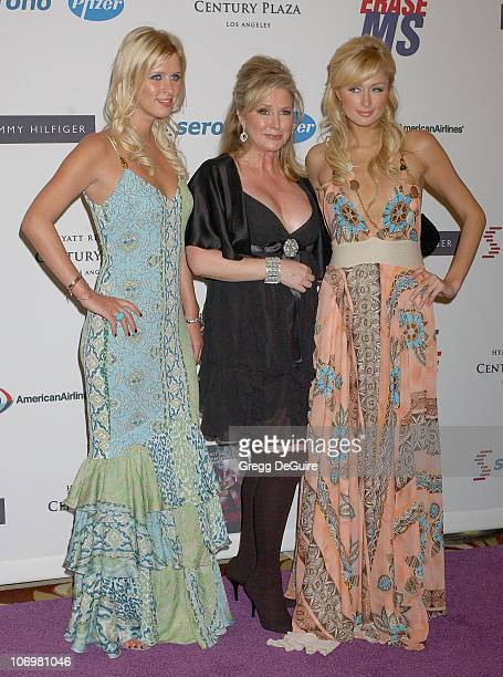 Nicky Hilton, Kathy Hilton and Paris Hilton during 13th Annual Race to Erase MS Sponsored by Nancy Davis and Tommy Hilfiger - Arrivals at Hyatt...