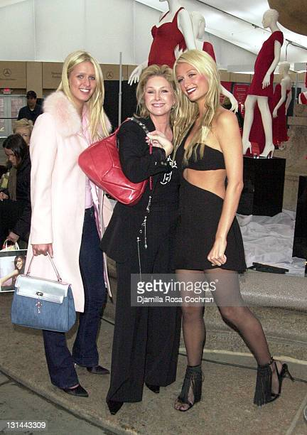 Nicky Hilton Kathy Hilton and Paris Hilton during MercedesBenz Fashion Week Fall 2003 Collections Nicky Kathy and Paris Hilton at Bryant Park at...