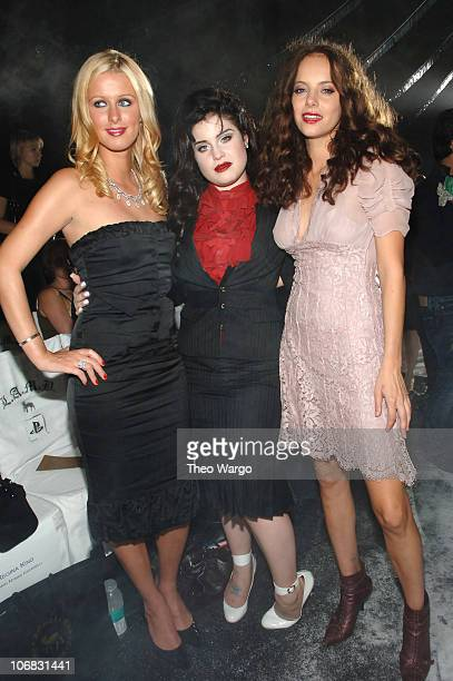 Nicky Hilton Kelly Osbourne and Bijou Phillips during Olympus Fashion Week Spring 2006 Gwen Stefani for LAMB Front Row and Backstage at Roseland in...