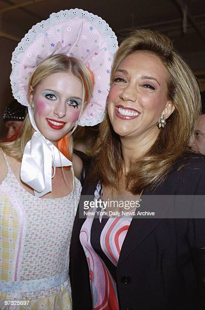 Nicky Hilton looking like Little Bo Peep and songwriter Denise Rich backstage at Gracie Mansion Gallery on W 27th St for Size 6 an art and fashion...