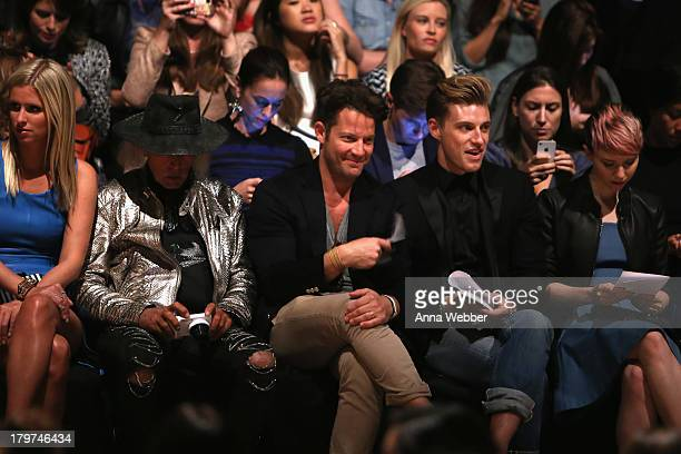 Nicky Hilton NBA superfan Jim Goldstein Nate Berkus and Jeremiah Brent attend the Rebecca Minkoff Spring 2014 Runway Show in Collaboration with...