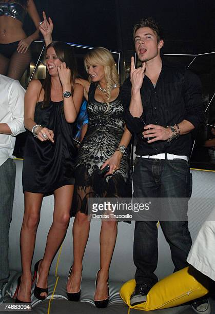 Nicky Hilton Paris Hilton and Josh Henderson during Hugh Hefner's 81st Birthday Weekend Birthday Party at MOON Nightclub at The Palms Hotel and...