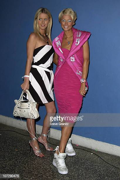 Nicky Hilton Paris Hilton during Designer Jeremy Scott And Special Guest Christina Aguilera have The Passion For Fashion at The Palace in Hollywood...