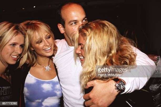 Nicky Hilton, Paris Hilton, Todd Meister, Lara Shriftman Hugo Boss Party Hugo Boss Store, NYC May 22, 2001.