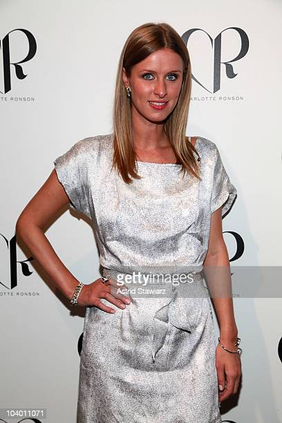 Nicky Hilton poses backstage during TRESemme at the Charlotte Ronson Spring 2011 fashion show during Mercedes-Benz Fashion Week at The Stage at...
