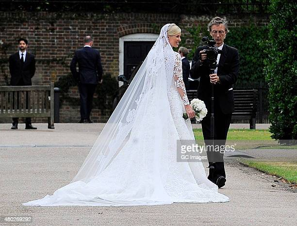Nicky Hilton poses for photos during her Wedding Reception on July 10 2015 in London England