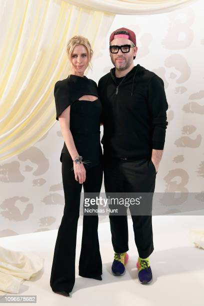 Nicky Hilton Rothschild and designer Brandon Maxwell pose at the Brandon Maxwell front row during New York Fashion Week The Shows at Penn Plaza...