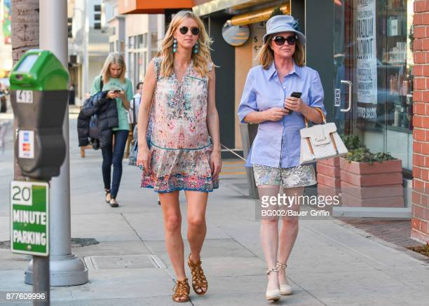 Nicky Hilton Rothschild and her mother Kathy Hilton are seen on November 22 2017 in Los Angeles California