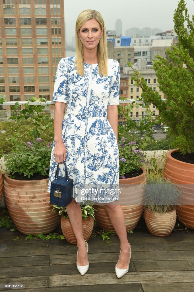Nicky Hilton Rothschild attends the Oscar De La Renta front Row during New York Fashion Week: The Shows at Spring Studios Terrace on September 11, 2018 in New York City.