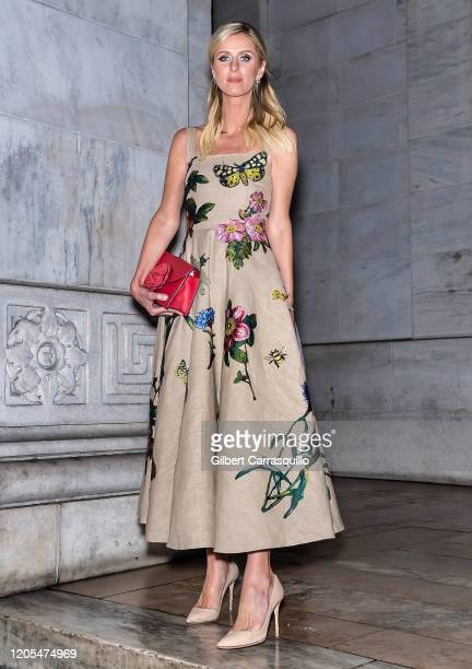 Nicky Hilton Rothschild is seen leaving the Oscar De La Renta Fashion Show during New York Fashion Week at The New York Public Library on February 10...