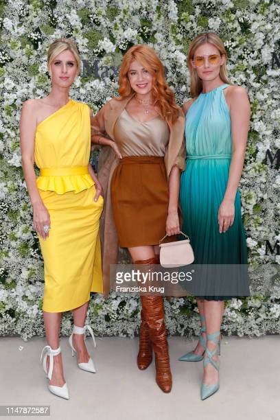 Nicky Hilton Rothschild Palina Rojinski and Charlott Cordes during the Max Mara Resort 2020 Fashion Show at Neues Museum on June 3 2019 in Berlin...