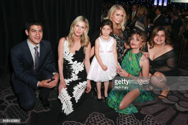 Nicky Hilton Rothschild Paris Hilton and Paris Jackson meet with honorees during the CASA Of Los Angeles' 2018 Evening To Foster Dreams Galaat The...