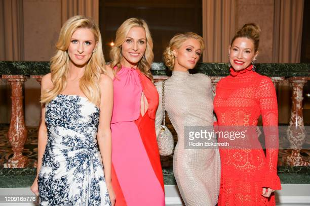 Nicky Hilton Rothschild WCRF cofounder Jamie Tisch Paris Hilton and WCRF cofounder Quinn Ezralow pose for portrait at The Women's Cancer Research...