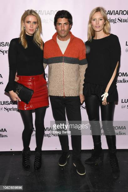 Nicky Hilton RothschildBrandon Davis and Charlott Cordes attend the LuisaViaRoma Opening Party @ Spring on November 16 2018 in New York City