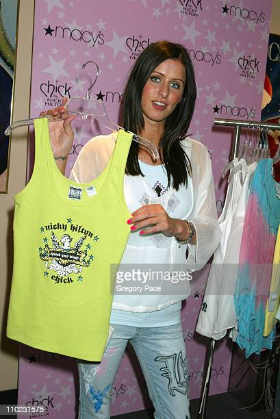 Nicky Hilton shows off some of her designs from her new clothing line CHICK by Nicky Hilton