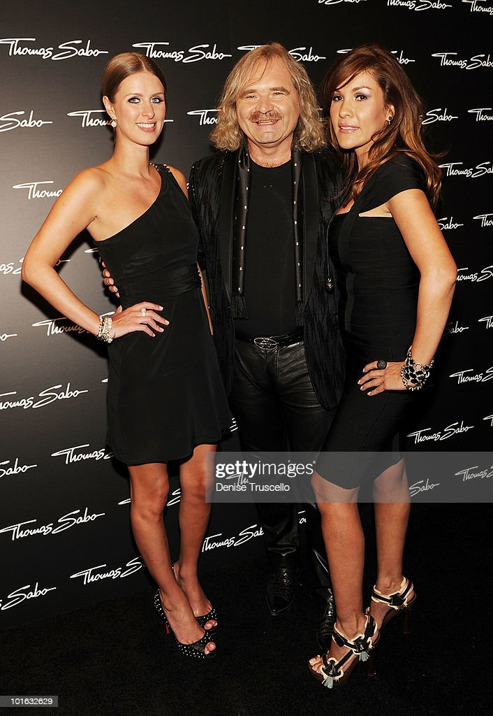 Nicky Hilton, Thomas Sabo and Mrs. Sabo arrive at the opening of the Thomas Sabo store at the Grand Canal Shoppes at Venetian Hotel and Casino Resort on June 4, 2010 in Las Vegas, Nevada.