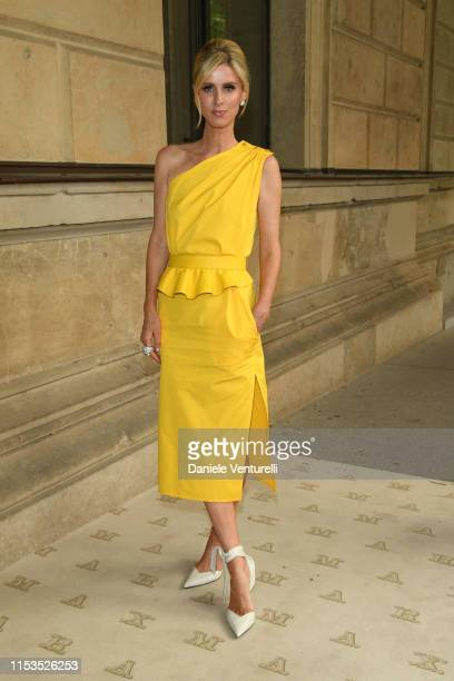 Nicky Hilton, wearing Max Mara, attends the Max Mara Resort 2020 Fashion Show at Neues Museum on June 03, 2019 in Berlin, Germany.
