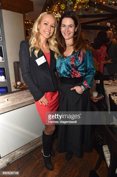Nicky Huebner and Natalie Schmid attend the DKMS LIFECharity Ladies Christmas Lunch at Kaefer Schaenke on December 12 2017 in Munich Germany