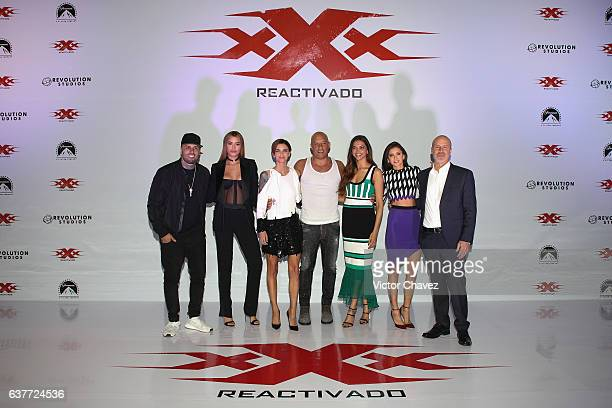 Nicky Jam Ariadna Gutierrez Ruby Rose Vin Diesel Deepika Padukone Nina Dobrev and film director DJ Caruso attend a photocall to promote the Paramount...