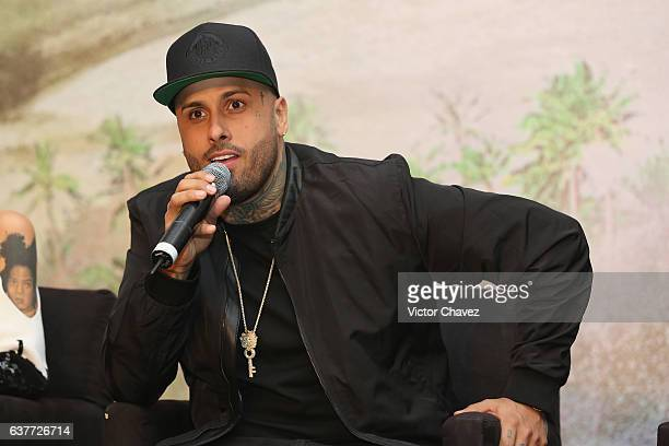 """Nicky Jam attends a press conference to promote the Paramount Pictures film """"xXx: Return of Xander Cage"""" at St. Regis Hotel on January 5, 2017 in..."""