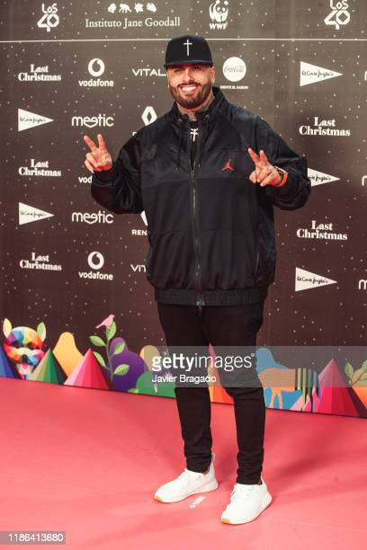 Nicky Jam attends 'Los40 music awards 2019' photocall at Wizink Center on November 08 2019 in Madrid Spain