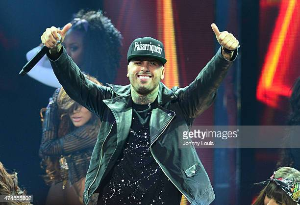Nicky Jam performs at the 2015 Billboard Latin Music Awards presented by State Farm on Telemundo at Bank United Center on April 30 2015 in Miami...