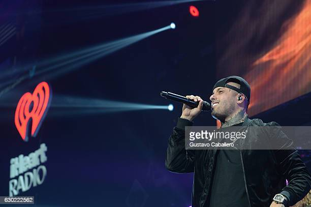 Nicky Jam performs at the Y100's Jingle Ball 2016 at BBT Center on December 18 2016 in Sunrise Florida