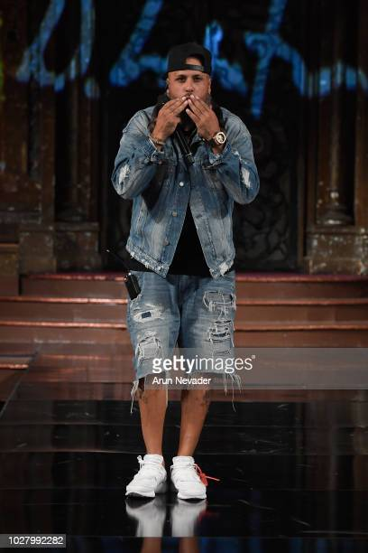 Nicky Jam performs during the Domingo Zapata presentation At New York Fashion Week Powered By Art Hearts Fashion NYFW at The Angel Orensanz...