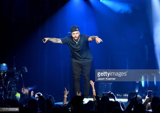 Nicky Jam performs live on stage during the Spotify ¡Viva Latino Live on August 30 2019 in Miami Florida