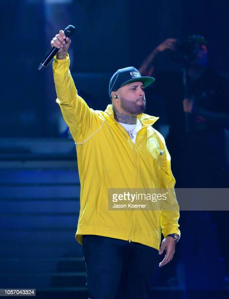 Nicky Jam performs onstage at iHeartRadio Fiesta Latina at AmericanAirlines Arena on November 3 2018 in Miami Florida