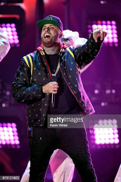 Nicky Jam performs onstage at the 18th Annual Latin Grammy Awards at MGM Grand Garden Arena on November 16 2017 in Las Vegas Nevada