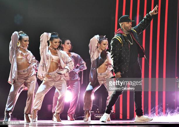Nicky Jam performs onstage during The 18th Annual Latin Grammy Awards at MGM Grand Garden Arena on November 16 2017 in Las Vegas Nevada