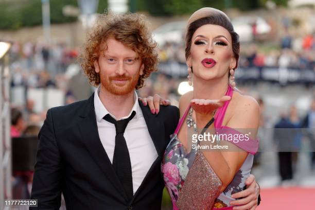 "Nicky Larkin and Matthew Cavan, also known as Belfast drag superstar Cherrie Ontop, attends closing ceremony red carpet for short cut ""Becoming..."