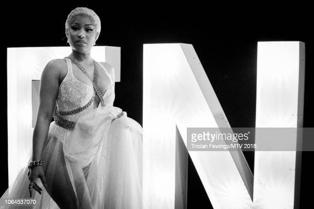 Nicky Minaj during the MTV EMAs 2018 at Bilbao Exhibition Centre on November 04 2018 in Bilbao Spain