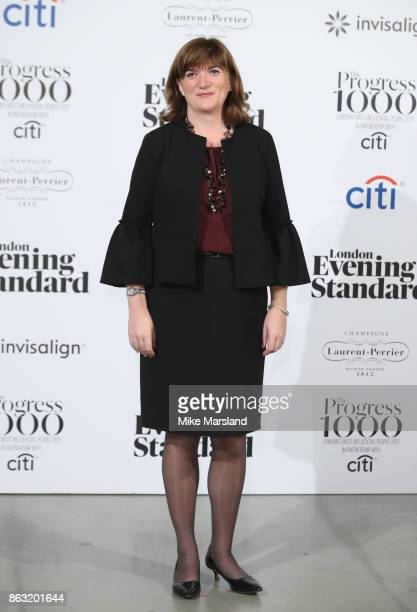 Nicky Morgan attends London Evening Standard's Progress 1000 London's Most Influential People event at on October 19 2017 in London England
