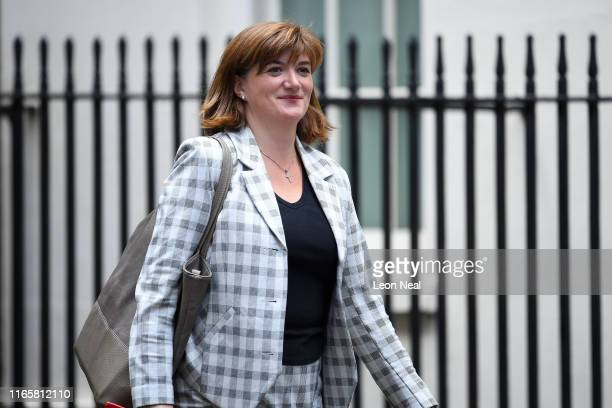Nicky Morgan Secretary of State for Digital Culture Media and Sport walks in Downing Street on September 3 2019 in London England Yesterday evening...
