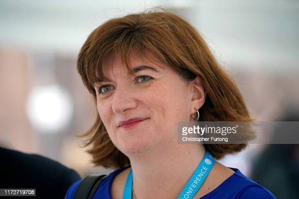 Nicky Morgan Secretary of State for Digital Culture Media and Sport arrives for the third day of the Conservative Party Conference at Manchester...