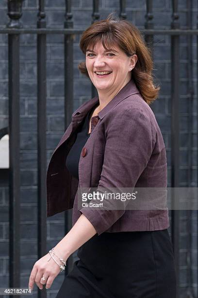 Nicky Morgan the new Education Secretary arrives in Downing Street on July 15 2014 in London England British Prime Minister David Cameron is...