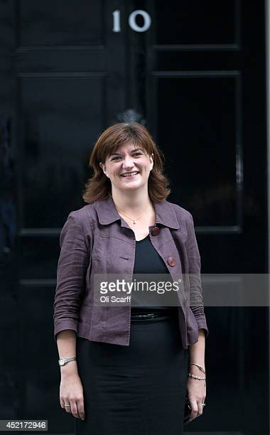 Nicky Morgan the new Education Secretary leaves Downing Street on July 15 2014 in London England British Prime Minister David Cameron is conducting a...