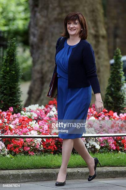 Nicky Morgan UK education secretary arrives for a cabinet meeting in 10 Downing Street in London UK on Tuesday July 12 2016 UK home secretary Theresa...