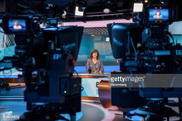 Nicky Morgan UK treasury committee chair and Conservative Party lawmaker pauses during a Bloomberg Television interview in London UK on Tuesday March...
