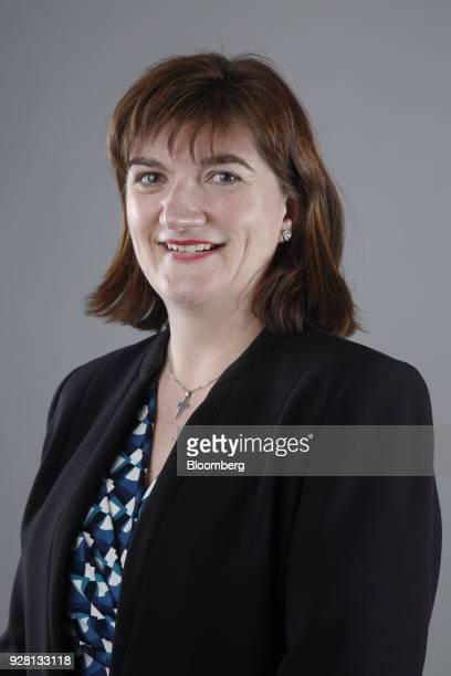Nicky Morgan UK treasury committee chair and Conservative Party lawmaker stands for a photograph following a Bloomberg Television interview in London...